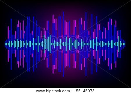 Digital Equalizer. Abstract music volume equalizer infinity computer technology .