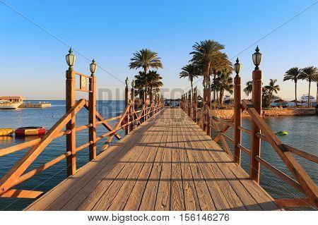 Boardwalk In Hurghada, Egypt