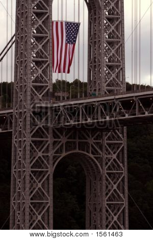 Bridge And Flag
