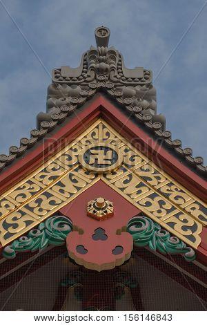 rooftop of sensoji temple at asakusa Tokyo,  japan