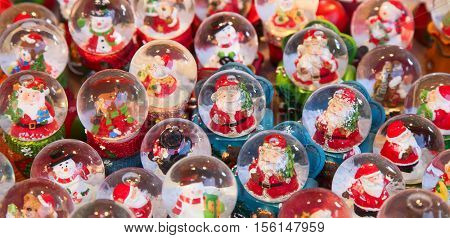 STRASSBOURG - DECEMBER 23: Colorful decorations on the Christmas market in Strasbourg on December 23, 2013 in Strasbourg, France. Christmas market is famous tourist attraction of the city.