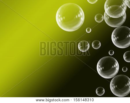 Yellow White Abstract Gradient Floating Bubble Background