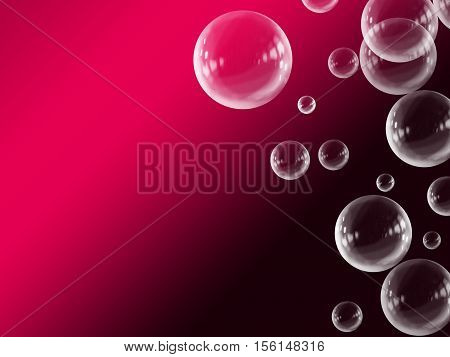 Pink White Abstract Gradient Floating Bubble Background