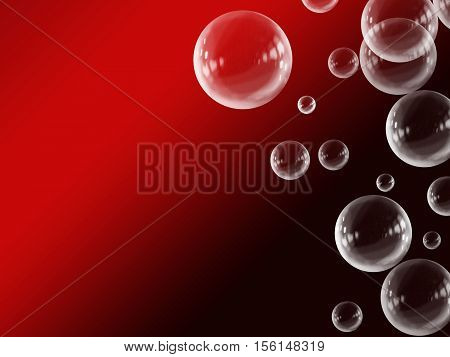 Red White Abstract Gradient Floating Bubble Background