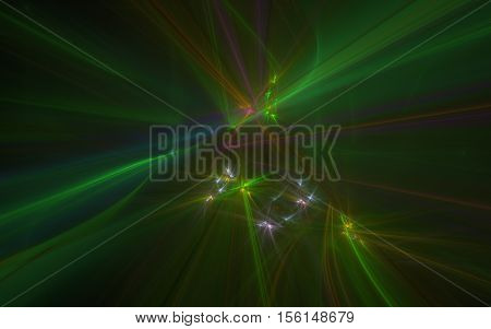 multi colored distorted lines fractal back ground