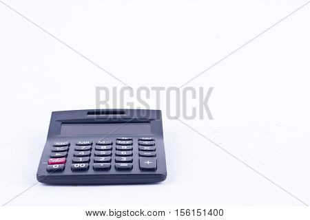 calculator for calculating the numbers accounting accountancy business calculation  on white background  isolated (front view)