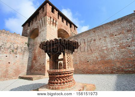 historic castle of Soncino in the province of Cremona near Milan, Italy