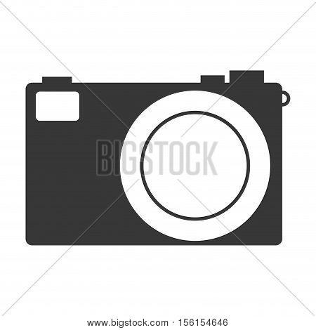 photographic camera icon over white background. vector illustraiton