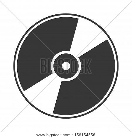 silhouette of cd compact disk icon over white background. vector illustration