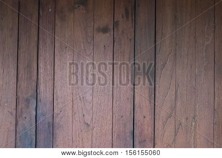 Planks of wood damaged by the aging proces