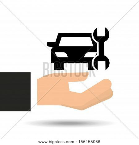 insurance car support tool graphic vector illustration eps 10