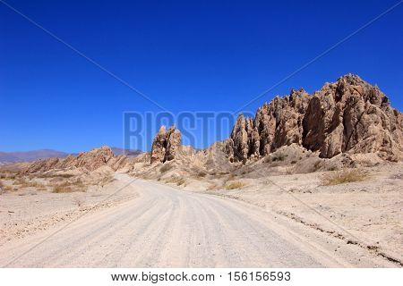 National route 40 crosses the quebrada de las Flechas, broken arrows, Salta Province, Cafayate, Argentina
