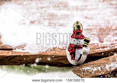Merry Christmas and Happy New Year concept wood background