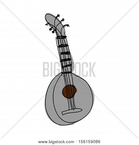 mandolin guitar instrument icon image vector illustration design