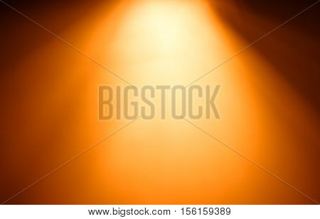 Top orange ray of light bokeh background hd