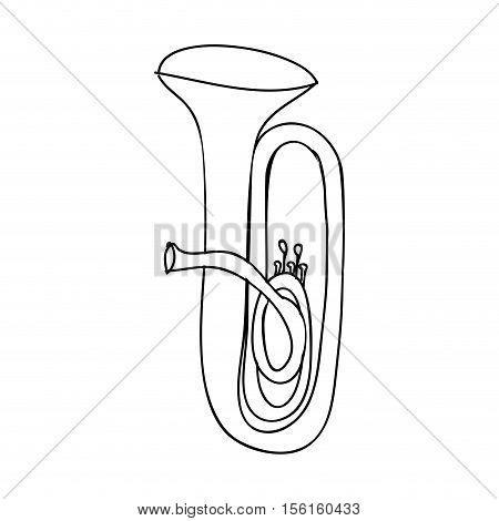 tuba instrument icon image vector illustration design