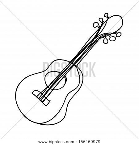 acoustic guitar instrument icon image vector illustration design