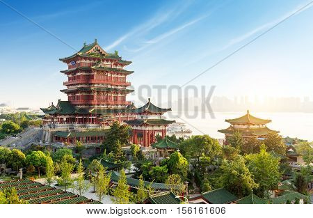 Tengwang PavilionNanchangtraditional ancient Chinese architecture made of wood.
