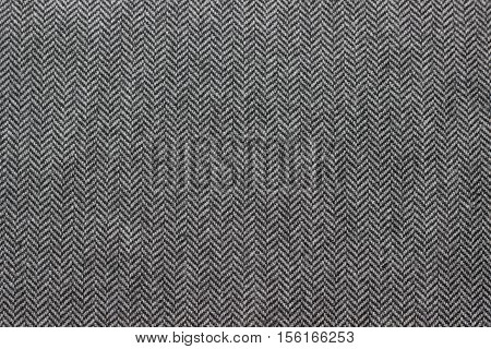 Grey Herringbone woolen tweed cloth pattern background