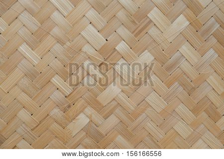Bamboo Texture. Brown Back Side Straw Mat Japan Korea Asian Art Wall Shape Retro Line Old Idea Zen Asia Plant Decor Sushi Rug Textile Detail Nature Mesh Surface Tatami Plant Top View Basket concept.