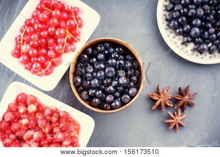 Photography of a berry fruits in a dishes
