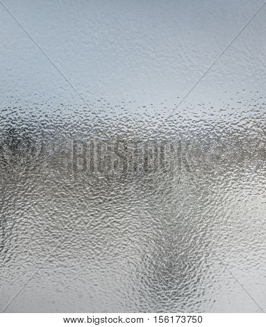 Abstract texture of icy glass