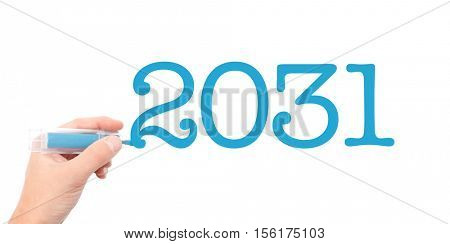 The year of 2031written with a marker