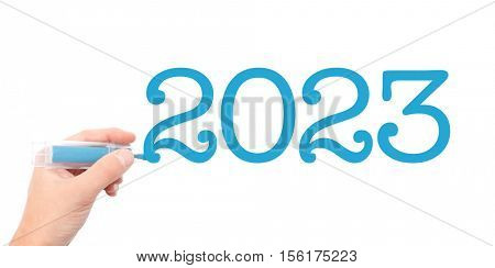The year of 2023written with a marker