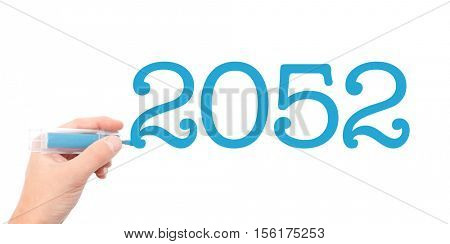 The year of 2052written with a marker