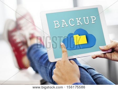 Folder Cloud Backup Data Information Sync Concept