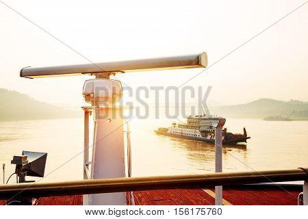 Radar Surveillance Equipment on Large Cruise Deck