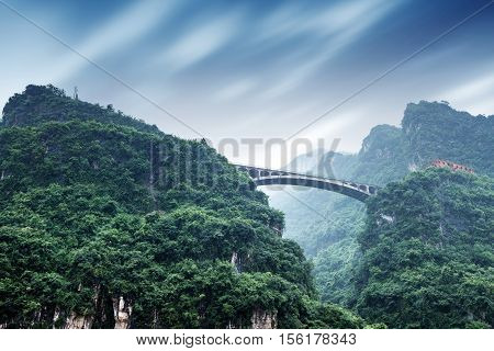 Bridge on the Yangtze River Three Gorges Chongqing China