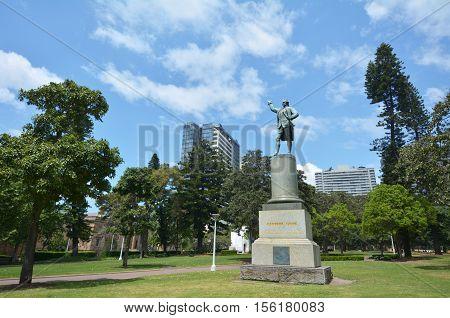 Captain James Cook Monument Hyde Park Sydney New South Wales Australia