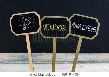 Concept Message Vendor Analysis And Light Bulb As Symbol For Idea