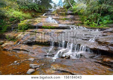 Landscape View Of Katoomba Cascades  Blue Mountains New South Wales Australia