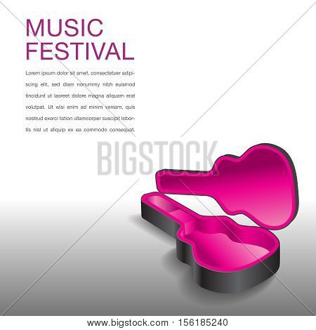 Creative music festival graphic for Print or Web