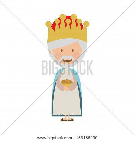 melchior magi or wise men icon image vector illustration design