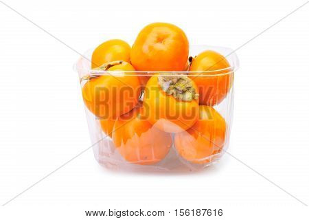 Persimmons In Plastic Box