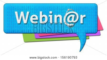 Webinar concept image with text written over binary comment symbol.
