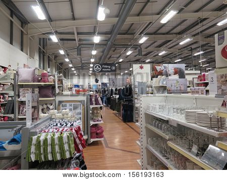 Dorchester, United Kingdom - October 11 2016: Warehouse type retail area in large shop