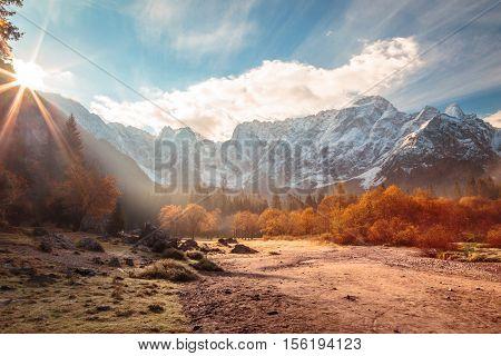 Autumn Sunrinse In The Valley