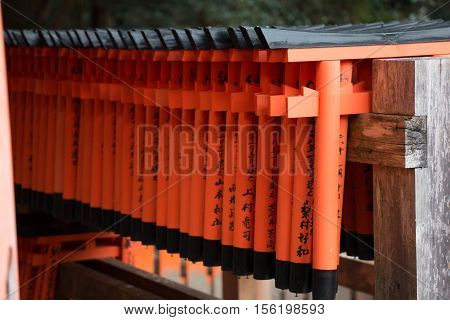 Little Torii For Prayer Write On Small Red Gates