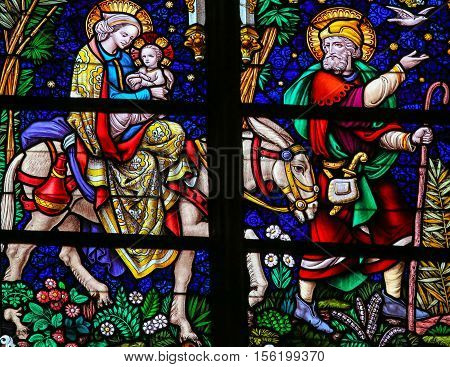 Flight To Egypt - Stained Glass