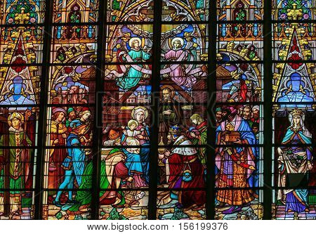 Epiphany Stained Glass - Three Kings