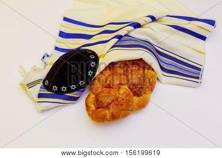 Fresh Homemade Challah Bread For A Jewish Celebration