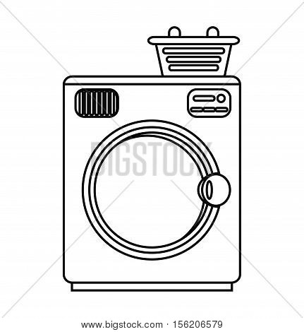 Washer machine icon. House appliances supplies and electronic theme. Isolated design. Vector illustration