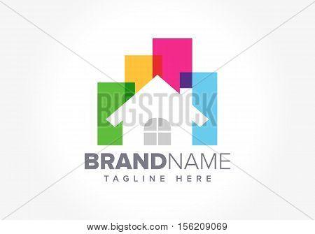 Home Real Estate logo design vector illustration