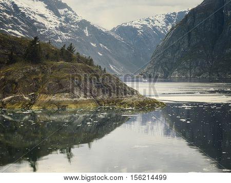 Steep Glacially Polished Cliffs at Tracy Arm Fjord, Southeast Alaska