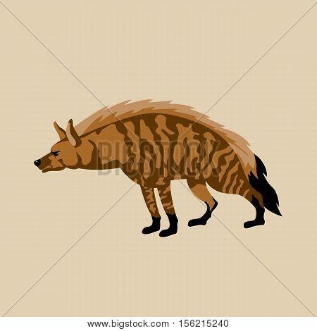 Hyena vector illustration style Flat side profile