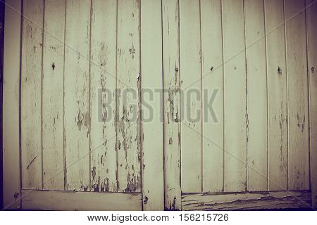 Hole And Defect On Grunge Wooden Window